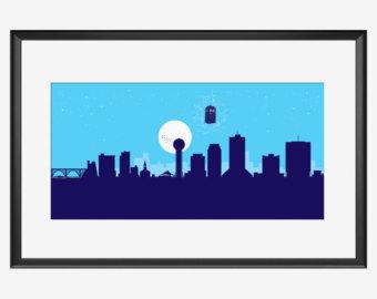 340x270 Chattanooga Skyline Chattanooga Print Chattanooga Poster