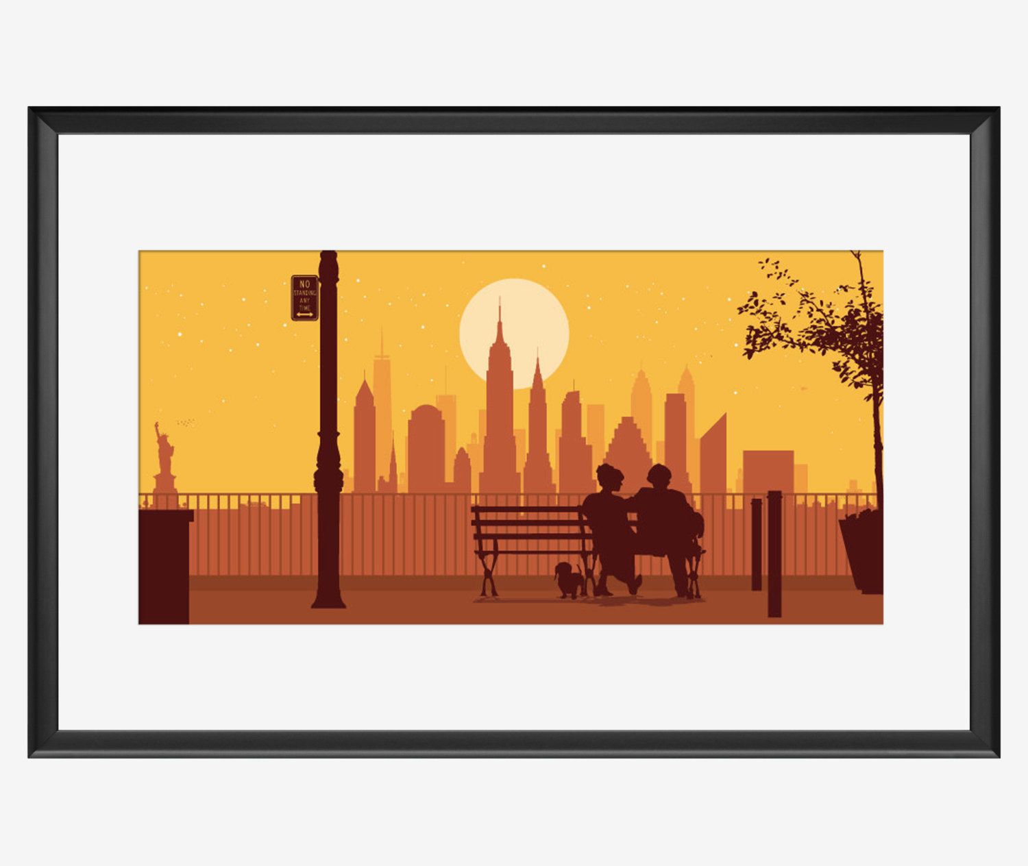 1500x1264 New York Skyline New York Art New York Print New York