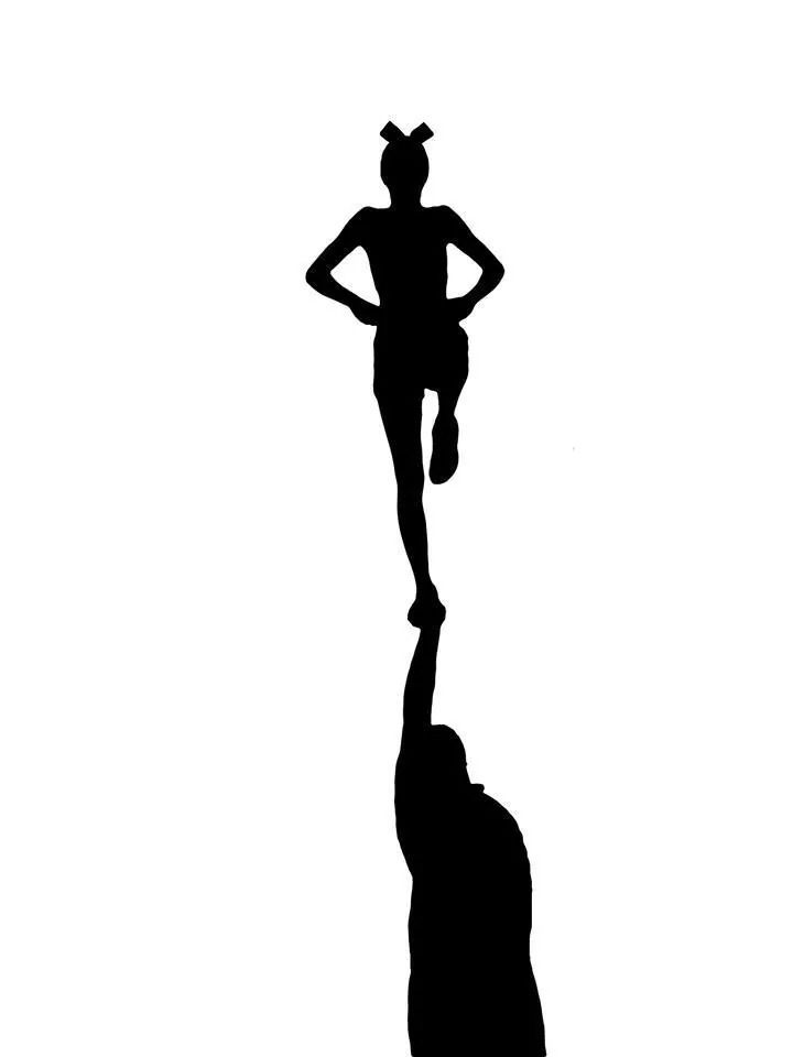 Cheer Flyer Silhouette