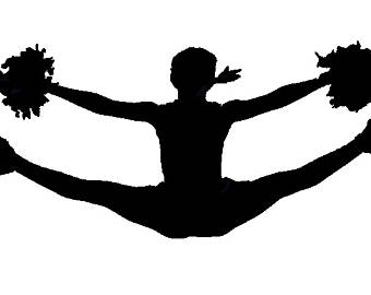cheer flyer silhouette at getdrawings com free for personal use