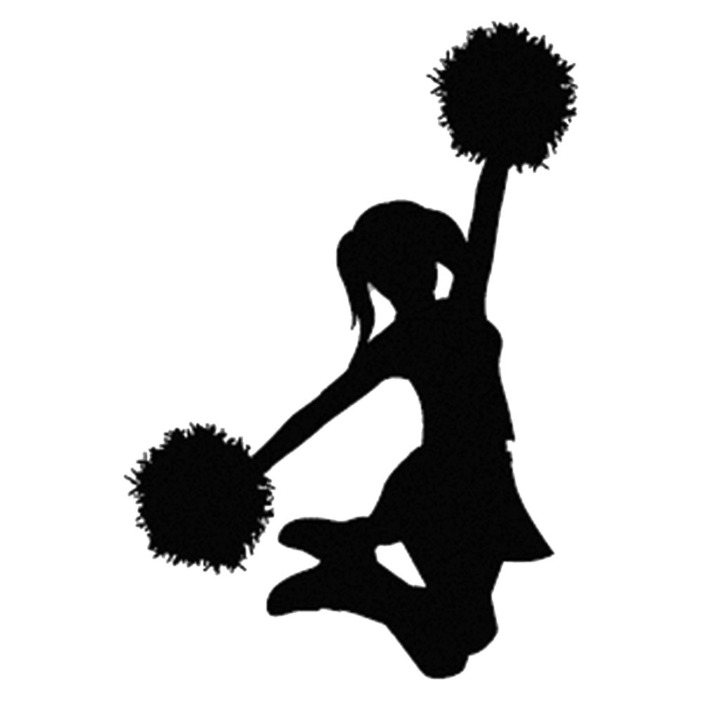 cheer flyer silhouette at getdrawingscom free for