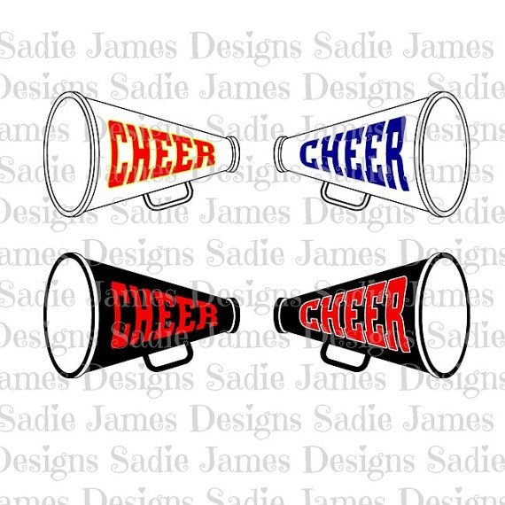570x570 Cheer Megaphone Svg And Silhouette Studio Cutting File Instant