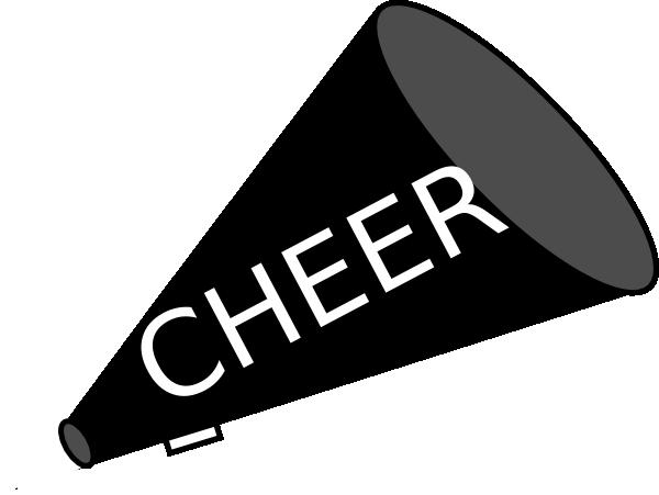 600x451 Free Cheer Sillohette Clip Art Black And White Megaphone Black