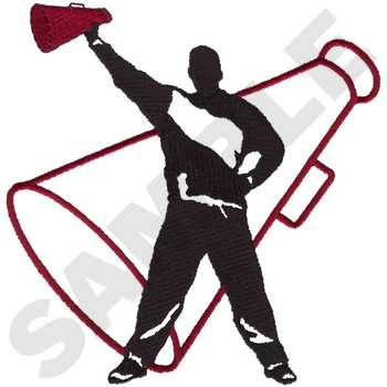 350x350 Male Cheer Silhouette Embroidery Designs, Machine Embroidery
