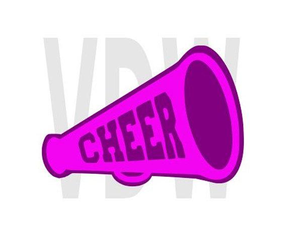 570x469 Cheer Megaphone Design, Cheerleading, Svg, Dxf, Eps, Silhouette