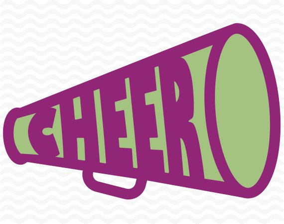 570x450 Cheer Megaphone Design Cheerleading Svg Dxf Eps For Use