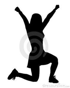 236x295 Free Cheer Sillohette Clip Art Black And White Cheerleader Clip