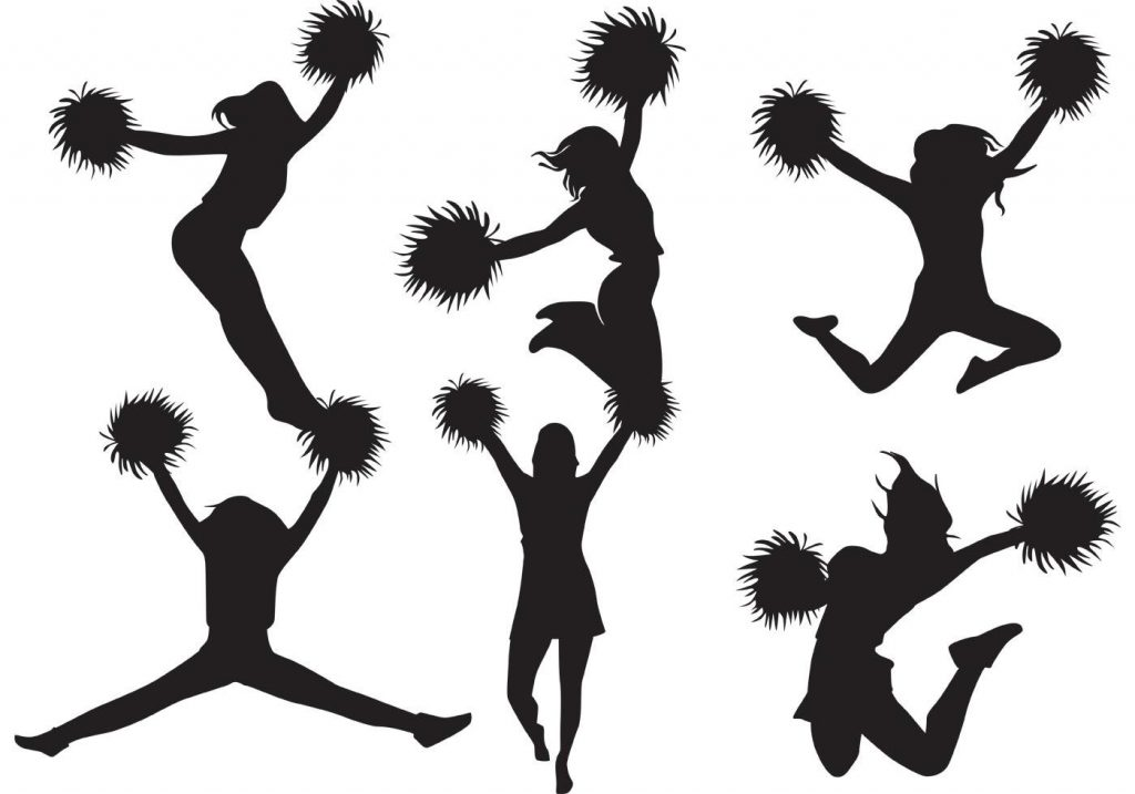 1024x717 Top 10 Cheer Jumps Silhouette Clipart Pictures
