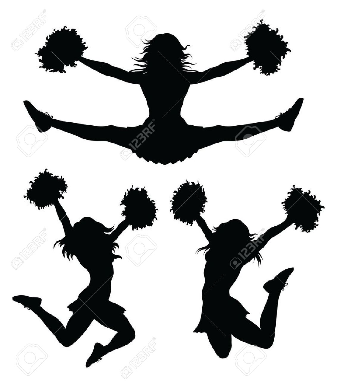 cheer silhouette at getdrawings com free for personal use cheer rh getdrawings com cheerleading silhouette clip art Volleyball Net Clip Art