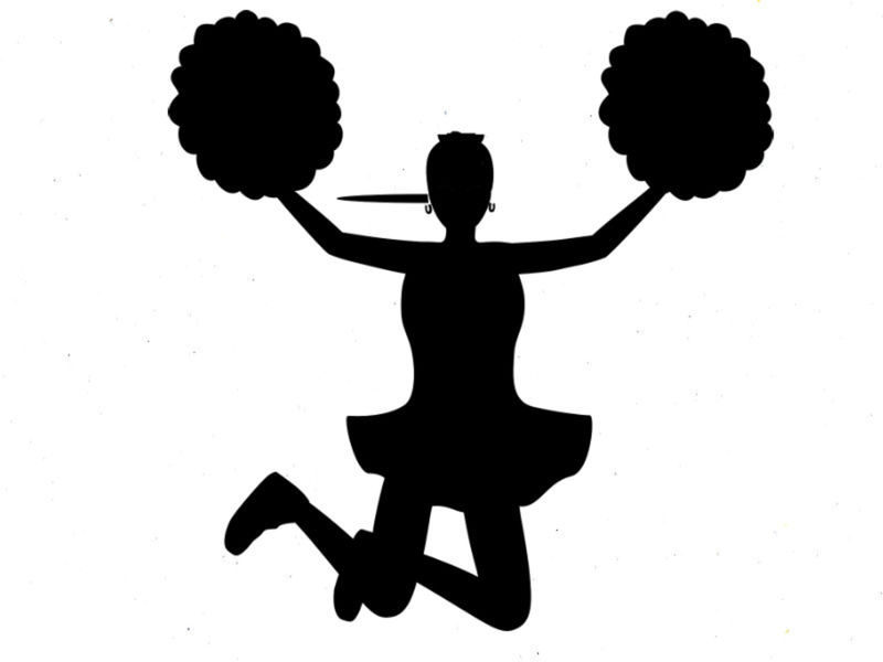 cheer silhouette clip art at getdrawings com free for personal use rh getdrawings com cheerleader clip art free cheer megaphone clipart free