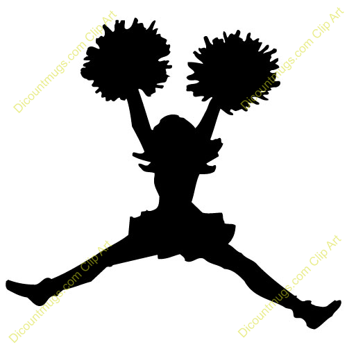 cheer silhouette vector at getdrawings com free for personal use rh getdrawings com  cheerleader clipart black and white free