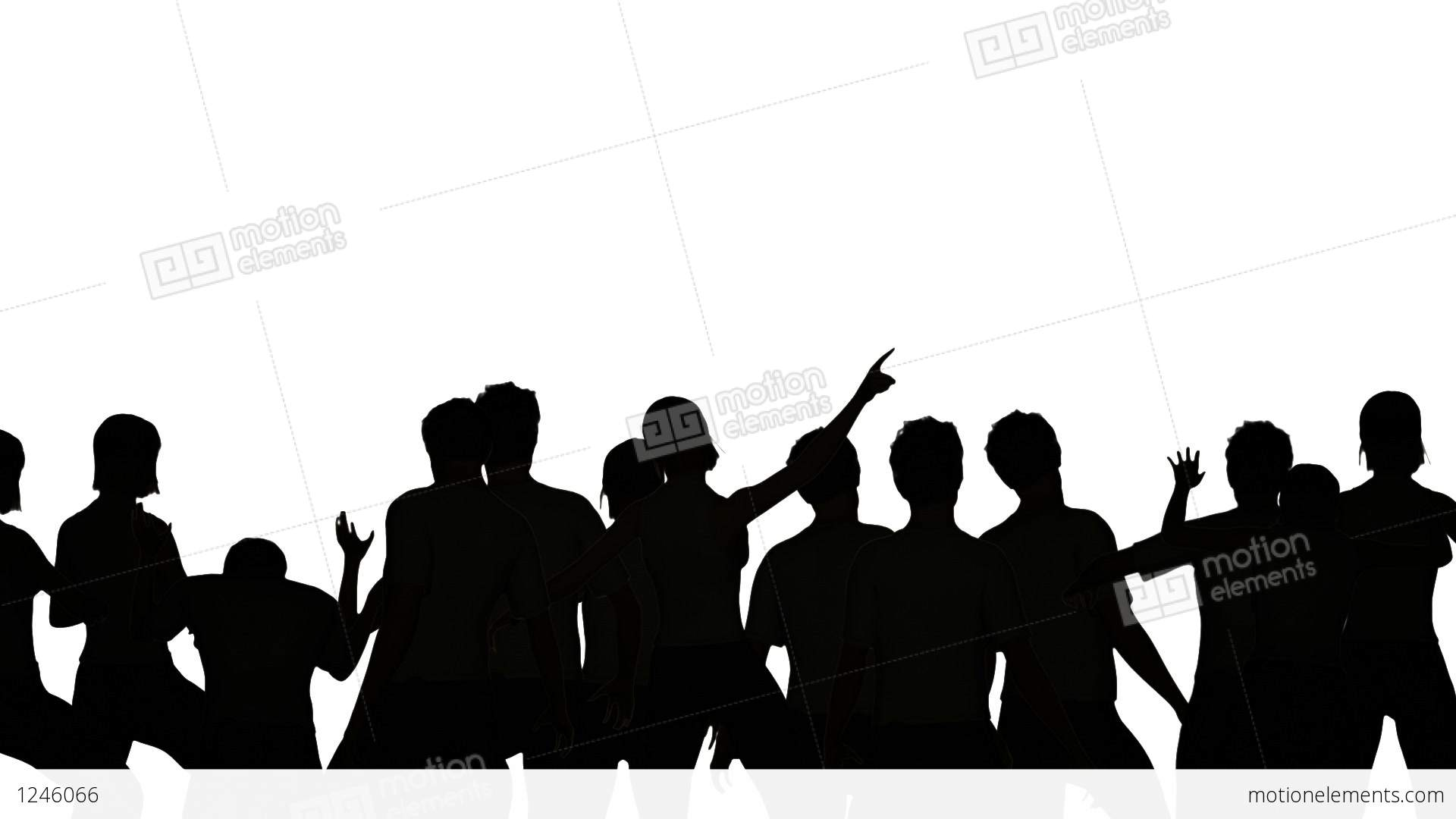 1920x1080 Dancers Silhouette Stock Animation 1246066