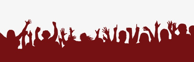 650x208 Silhouette Crowd, Creative Activities, Decorative Material, Sketch