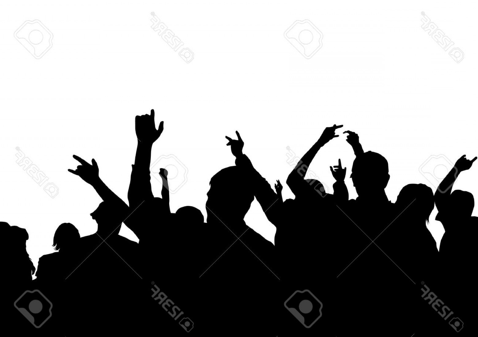 1560x1101 Concert Crowd Silhouette Vector Arenawp
