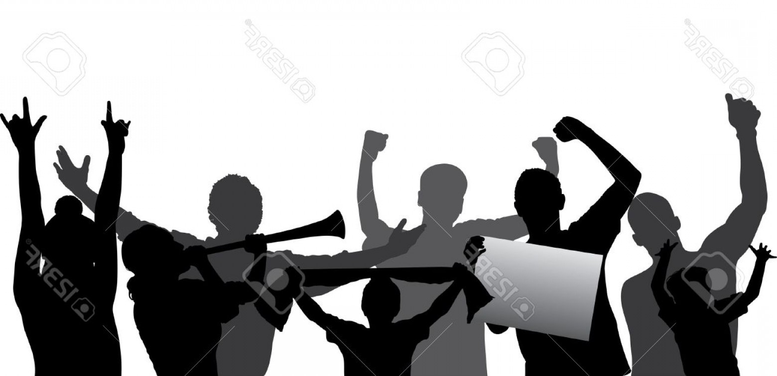 1560x756 Photosports Fans Cheering Crowd Silhouette Layered Every Figure
