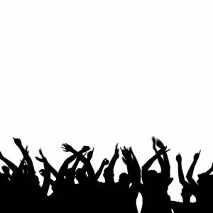 300x300 Photostock Vector Concert Crowd Silhouette Large Group People