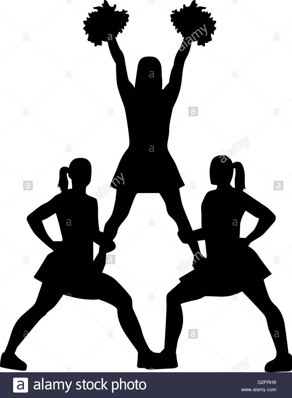1022x1390 Cheerleading Pyramid Silhouette Stock Photo 104839317