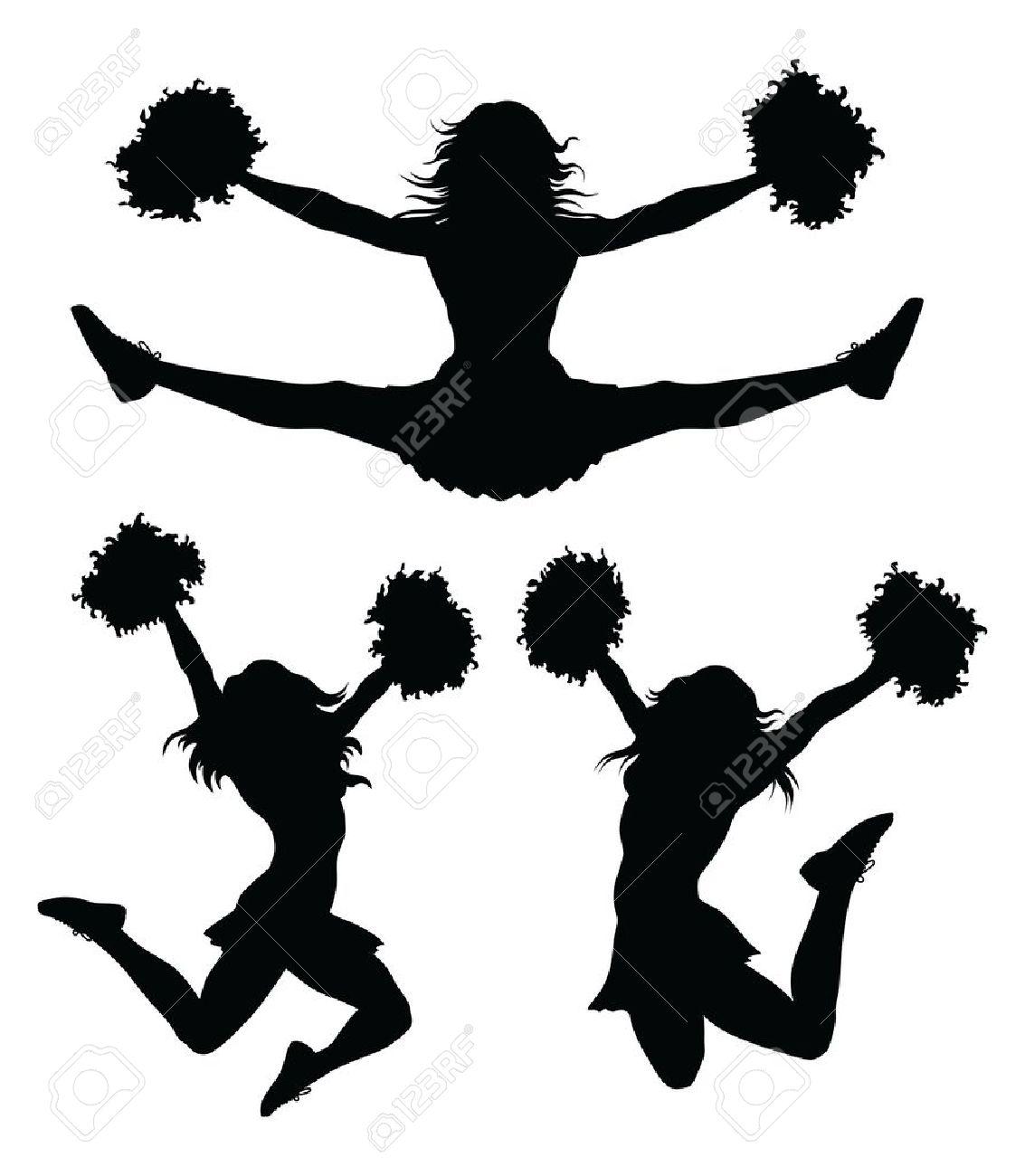 1133x1300 Cheer Jumps Silhouette Clipart