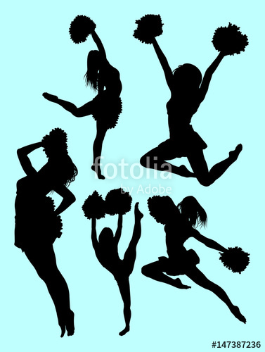 377x500 Beautiful Dancer, Cheerleader Silhouette. Good Use For Symbol