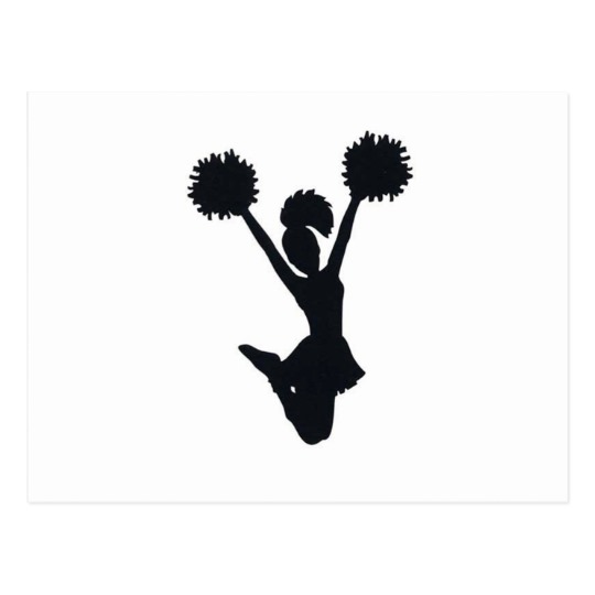 540x540 Cheerleader Silhouette Postcard Zazzle.ca