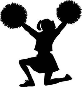 281x299 Novelty Cheerleader Silhouette 12 Edible Stand Up Wafer Paper Cake