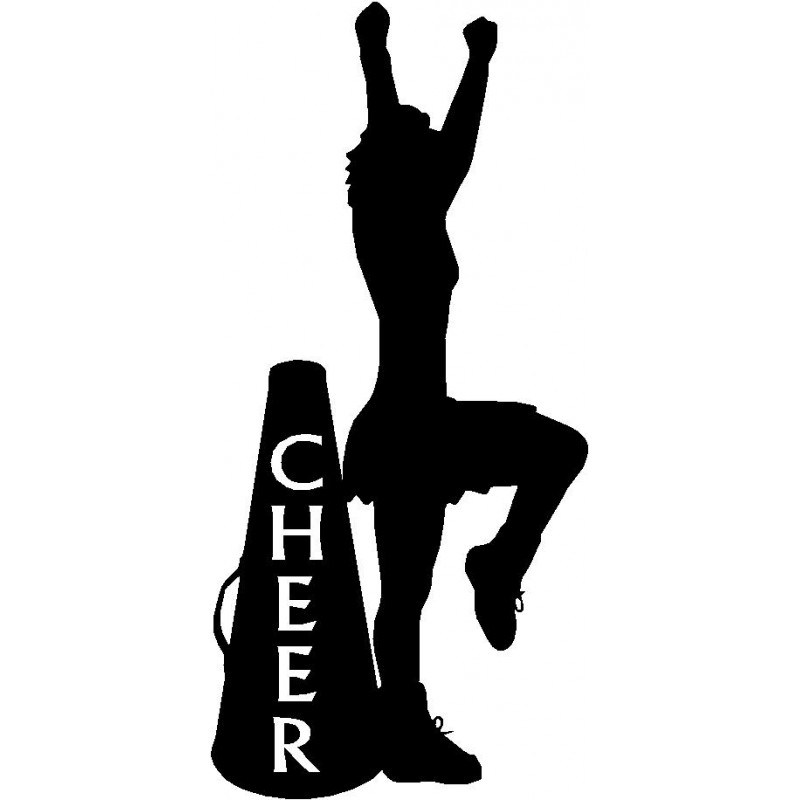 800x800 And Cheer Cone Sport Silhouettes Wall Art