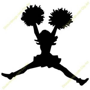 cheerleader silhouette clip art at getdrawings com free for rh getdrawings com clip art cheerleader pom poms cartoon cheerleaders clipart