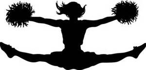 300x144 Cheerleader Silhouette Clip Art