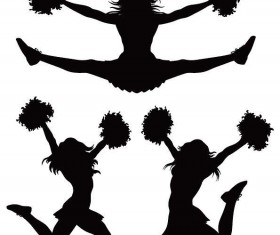 280x235 I Love Cheer With Jumping Cheerleader Vector