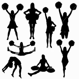270x270 Cheer Silhouette Clipart