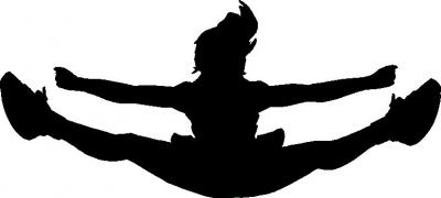 400x180 Cheer Toe Touch Clipart