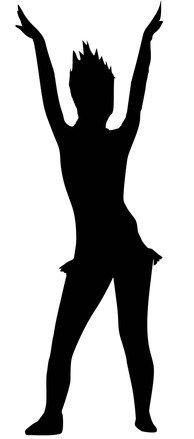 194x439 Free Cheerleader Silhouette Stock Photo