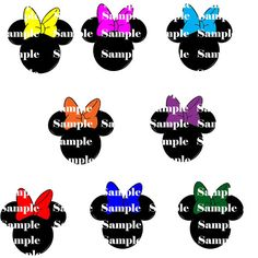 236x236 Minnie Mouse Silhouettes Clipart Clip Art Digital Scrapbooking