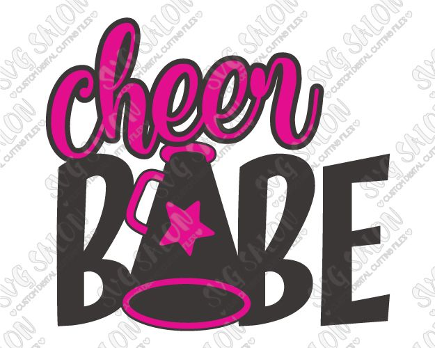 625x500 Cheer Babe Cut File In Svg, Eps, Dxf, Jpeg, Png Vinyl