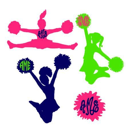 Cheerleader Silhouette Cutouts
