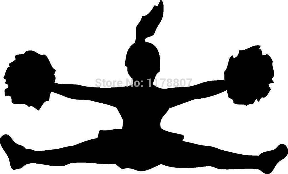 cheerleader silhouette images at getdrawings com free for personal rh getdrawings com cheerleader clipart megaphone cheerleading clipart