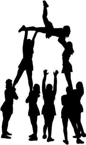 Cheerleader Silhouette Stunt
