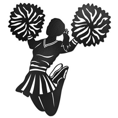 400x400 Cheerleader Clipart Silhouette Base Collection