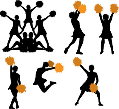 399x368 Cheerleader Silhouette Vector Free Vector Download (5,333 Free