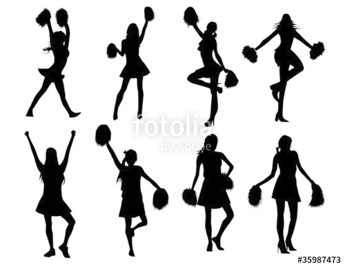 500x387 Cheerleaders! Vector Clip Art Stock Image And Royalty Free