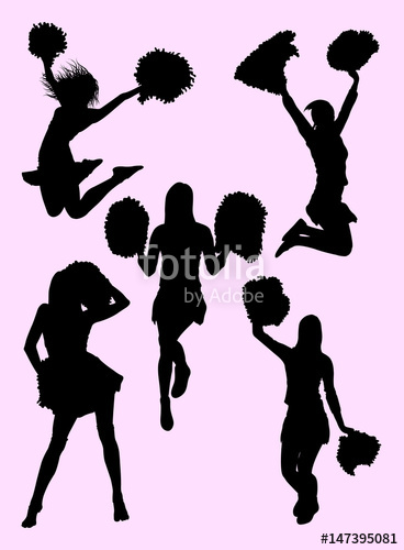368x500 Cute Dancer, Cheerleader Silhouette. Good Use For Symbol, Logo