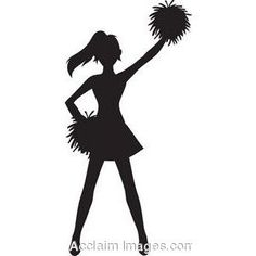 236x236 Free Cheer Sillohette Clip Art Black And White Cheerleader Clip