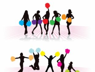 310x233 Free Vector Cheerleader Silhouette Set Free Vectors Ui Download