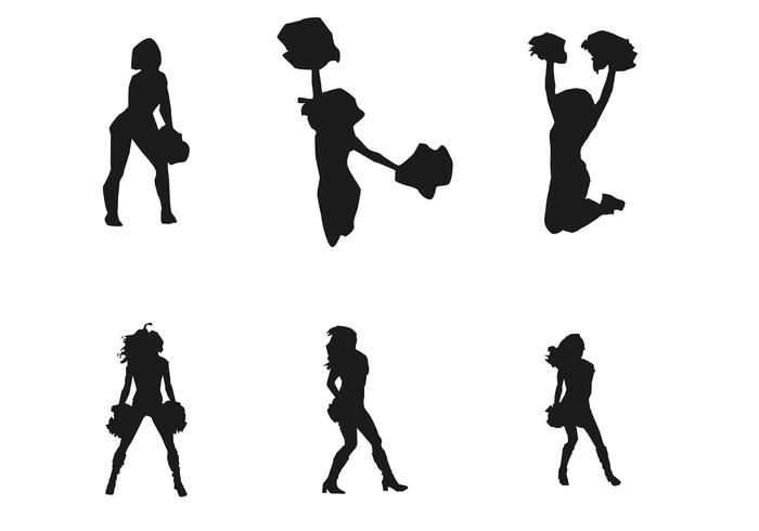 700x490 Vector Cheerleader Silhouettes