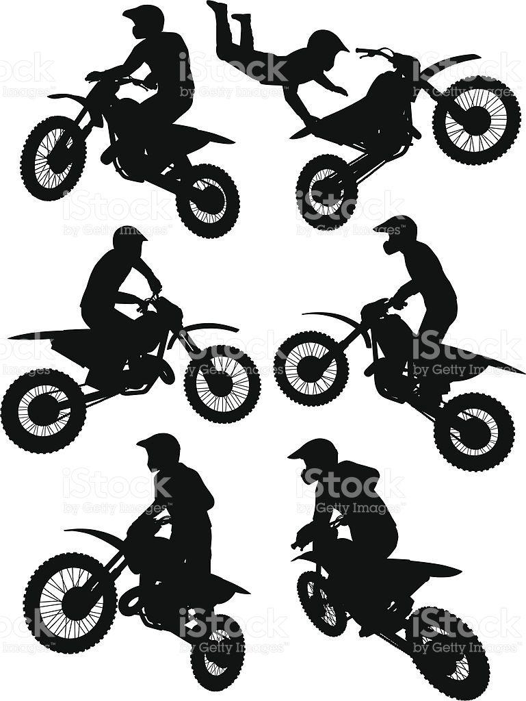 769x1024 Motocross Bikers Silhouettes. Motocross Riders, Free Silhouette