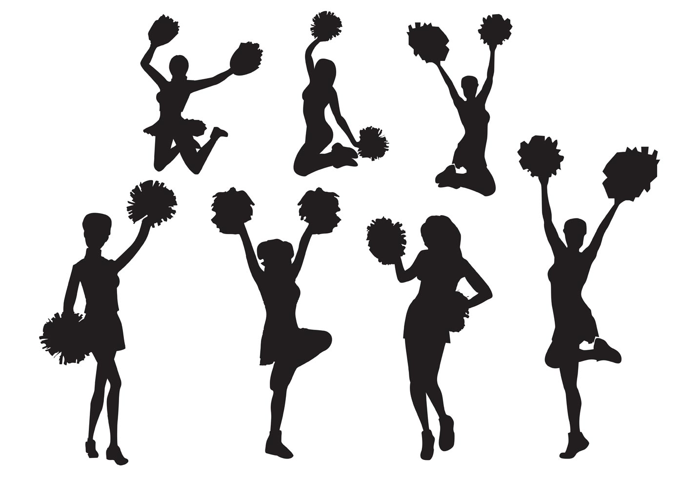 1400x980 Cheer Silhouette Patterns