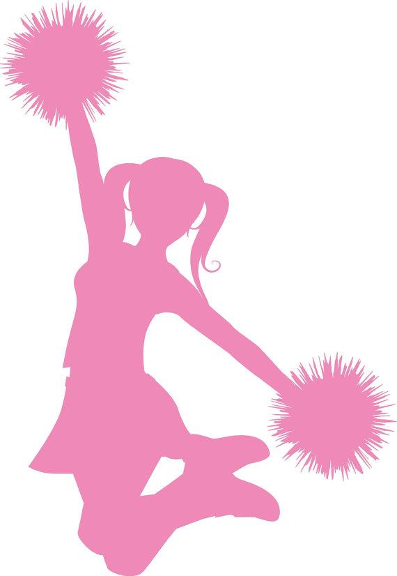 570x826 Cheerleader Silhouette Clip Art Clipart