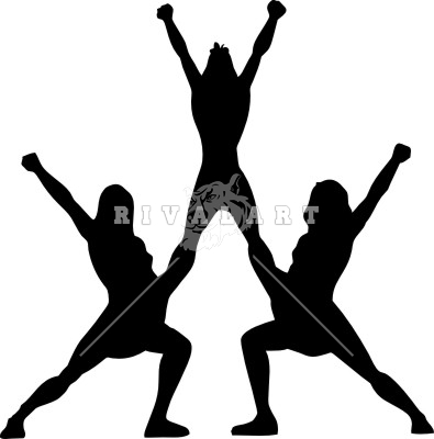 395x400 Cheerlearder Silhouette Clipart Collection