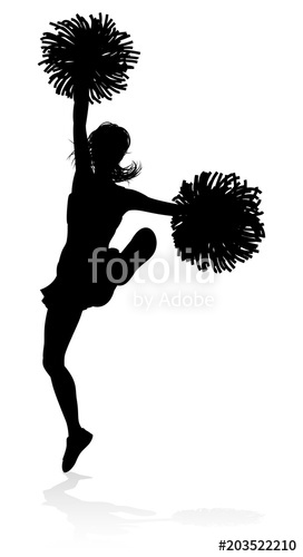 272x500 Silhouette Cheerleader Stock Image And Royalty Free Vector Files