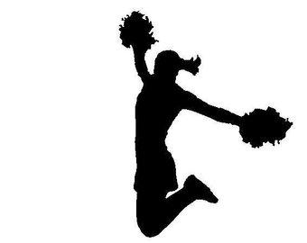 Cheerleading Jump Silhouette
